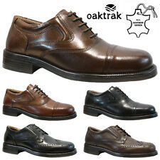 MENS OAKTRAK LEATHER LACE UP CASUAL OFFICE SMART FORMAL OXFORD BROGUE SHOES SIZE