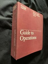 Vintage '84 IBM Guide to Operations Personal Computer Hardware Reference 6322510