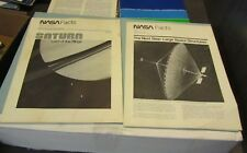 1981-82 NASA Facts Publications Saturn Lord of the Rings Large Space Structures