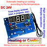 DC 24V 10A LED Intelligent Thermostat Adjustable Temperature Controller Switch