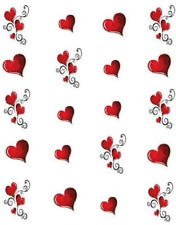 Valentine Hearts Waterslide /Water Transfer Nail Decals/Nail art