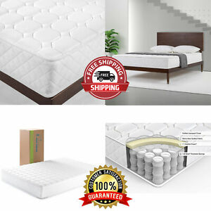 8 Inch Twin Size Mattress Luxury Adult Bedroom Coil Spring Back Pain Relief Bed