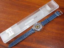 SWATCH 1992 Watch DELAVE GK145 MONTRE SUISSE swiss UHR made in france CUIR leder