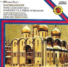 Rachmaninov: Piano Concerto No 2, Rapsodia su Paganini / Graffman, Bernstein CD