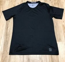 Nike Pro Dri-Fit Mens Activewear Shirt Size Large Black Color Excellent