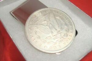 Morgan Dollar CC-Mint Coin Token Not Silver Souvenir Silver Tone Money Clip