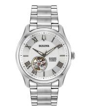 Bulova Men's Silver Tone Stainless Steel Bracelet Watch WILTON 96A207 #137 (3294