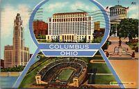 1946 Linen Postcard Columbus, Ohio - STADIUM - VINTAGE