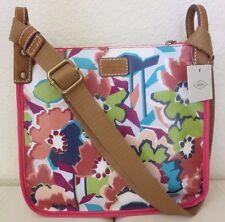 NWT Fossil Key Per Floral Crossbody Handbag Messenger Bag Bright Multi-color $98
