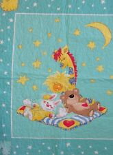 """Suzy's Zoo Patches Witzy Boof Lulla Child Baby Quilt 35�x41"""" Homemade Cotton"""