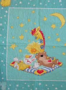 "Suzy's  Zoo Patches Witzy Boof Lulla Child Baby Quilt 35""x41""  Homemade Cotton"