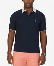Nautica Logo Classic Fit Stretch Pique Polo True Navy Mens Size Large New