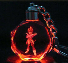 Dragon Ball Z JP Saiyajin Vegeta Crystal Key Ring Chain LED 7 Light Pendant Gift