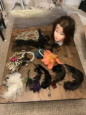 Large Lot of Antique Feathers Plumes Ostrich; Millinery Vintage Hat Pieces Decor