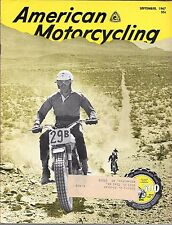 AMERICAN MOTORCYCLING MAGAZINE SEPTEMBER 1967 (VG)