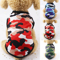 Summer Pet Dog Clothes Pet Cat Puppy Small Dog Camouflage Vest T Shirt Apparel #