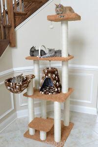 "64"" Armarkat Multi Cat Tree Condo Bed Perch Furniture Tower Chocolate A6403"