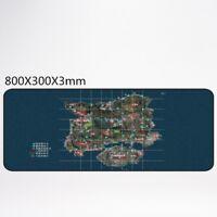 PUBG Big Mouse Pad Anti-Slip Gaming Mice Table Mat (Lock Edge) 800 * 300 * 3mm