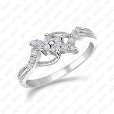 10k White Gold Finish Round Cut Diamond