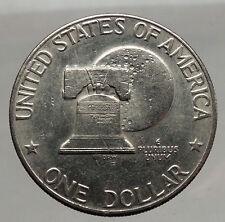 1976 President Eisenhower Apollo 11 Moon Landing Dollar USA Coin  i46194