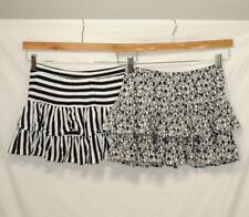Lot of 2 Circo Girls Skorts Size XL 14 16 Black White Striped Hearts