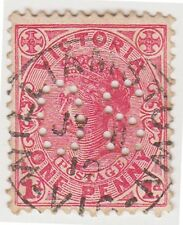 (DZ-212) 1901 VIC 1d red QVIC perfed OS (AD)