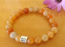 Orange Aventurine Gemstones Zodiac Birth Month Bracelet Yoga Bracelet Healing