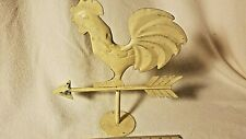 Antique Rooster Weather vane Topper with Stand-Old metal Rooster -Primitive