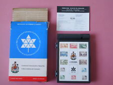 Canadian Centennial Commemorative Stamp Box 1967 with 12 Stamps, Leaflets, Outer
