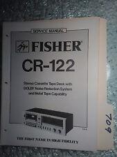 Fisher cr-122 service manual original repair book stereo tape cassette player