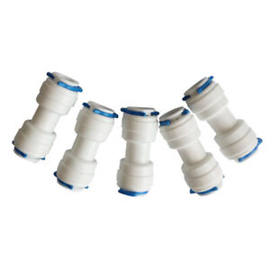 """15PCS 3/8"""" Equal Tube OD  Union Fitting Quick Connector Ro Water Purifier"""