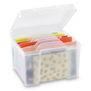 Greeting Card Storage Organizer with Adjustable Dividers NEW