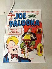 Joe Palooka #16 Cover Art original cover proof 1947 w/Printer Invoice - Humphrey