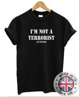 I'M Not a Terrorista Just Barbudo Camiseta Hombre Barba Bigote Movember