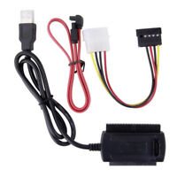"""IDE SATA HDD to USB 2.0 Hard Drive Adapter Converter Cable Kit for 2.5"""" 3.5"""" HD"""