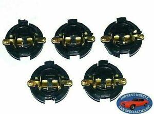 "Ford Dash 5/8"" Twist Instrument Gauge Cluster Idiot Light Bulb Lamp Socket 5pc A"