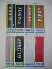 8 Pks 3Doodler Clear Glossy Flexy Sparkle PLA Plastic Strands Refill