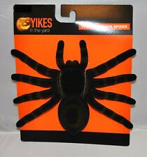 "Large Black Fake Spider Flocked Tarantula Halloween Decor Prop 9"" W x 6"" L NEW"