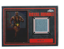 WWE Big E 2014 Topps Chrome Event Used Royal Rumble Mat Relic Card