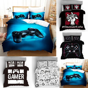 3D Gamer Video Games Colorful Duvet Cover Single Bedding Quilt Cover Pillowcase