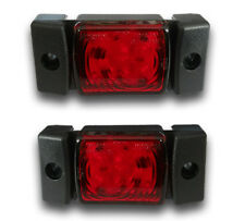 2 UNITS 12/24V LED RED REAR SIDE MARKER DIRECTION INDICATORS TAIL LIGHTS TRUCK
