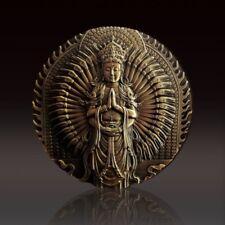2018 Shanghai Mint 120MM Brass Thousand Hands Guanyin medal COA