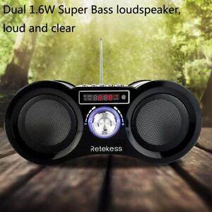 Tragbares UKW-Radio Stereo-MP3-Player Wiederaufladbare Lautsprecher-Fernbedienun