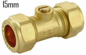 15mm/22mm Brass compression isolating valve pack of:1, 2 and 5