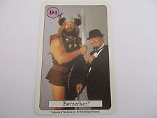 Carte WWF QUARTETT SET 1 Card - BERZERKER D4 - AMIGO 1992