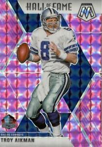 Troy Aikman 2020 Mosaic Pink Camo Prizm #290 Hall of Fame Dallas Cowboys