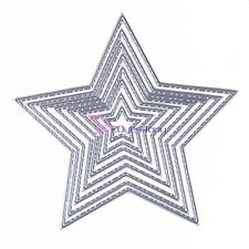 8pcs Basic Stars Sizzix Big Shot Die Cuts Metal Die Scrapbooking Embossing Card