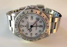 Rolex Explorer II 16570 1991 Polar White 40MM GMT Stainless Steel Watch
