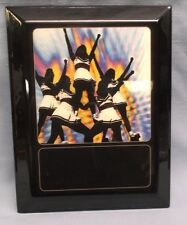 """Cheerleading plaque high gloss black full color image Personalized 8 1/2"""" x 11"""""""
