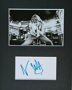 Joe Elliott 'Def Leppard', hand signed mounted autograph.